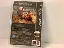 """Dimensions Gold Collection Counted Cross Stitch Kit  GOOD MORNING Horses 7""""X5"""""""