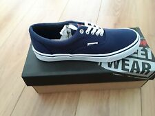 Mens Blue/White Canvas Classic Low VISION Frontal 13 STREET WEAR trainers UK 8