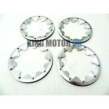 King Motor Silver Aluminum Alloy Beadlocks (Set of 4) HPI Baja 5B 5T 5SC 2.0 SS