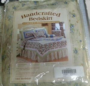 Handcrafted Bedskirt, King Size, New Home Collection 78X80X15