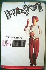 DAVID BOWIE– AFFICHE ORIGINALE PROMO - DAY IN DAY OUT -  1987