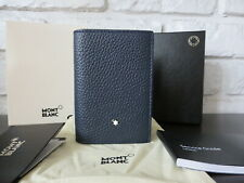 Montblanc Meisterstuck Soft Grain Business Card Holder Wallet Gusset Italy, NIB