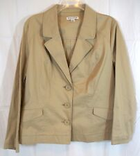 Pendleton Womens 3 Button Size Large Khaki Blazer Jacket