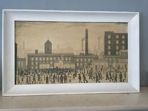 Vibtage 50's 60's LS Lowry Large Vintage Print In Wooden Professionally Framed