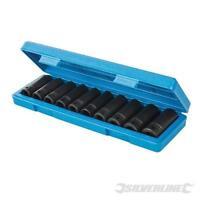 "CLEARANCE LOT586290 Deep Impact Socket Set 1/2"" Drive 6pt Metric 10pce 10-22mm"