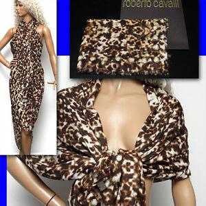 $525 ROBERTO CAVALLI Ladies PAREO SCARF w/ Tag & Box