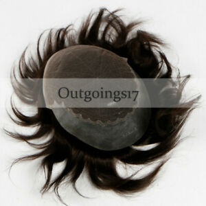 Full Swiss lace toupee 100% human hair Men's toupee indian hair system piece