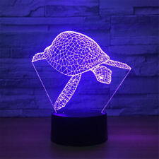 3D tortoise sea turtle led acrylic night illusion lights lamp home child gift