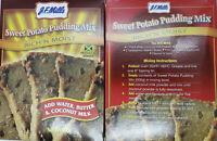 J.F.Mills Jamaican Sweet Potato Pudding Mix (2x1) boxes 500g+2 free coconut milk