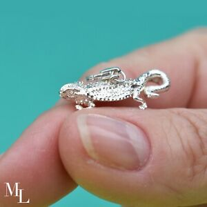 Sterling Silver Bearded Dragon Jewellery Charm by MYLEE London ML022