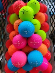 50  Maxfli  Softfli Golf Balls Matte Mixed Colors Mint AAAA