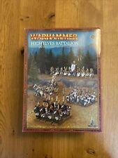 Warhammer Fantasy - HIGH ELF BATTALION / Streitmacht Hochelfen - OOP - NEU / NEW