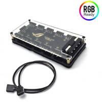 RGB Fan Lüfter HUB Molex 4 pin Power 3-Pin Fan 10 Port Controller Splitter 0,5m