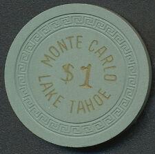 MONTE CARLO Lake Tahoe $1 Chip 1957