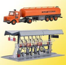 Kibri 39834 gauge H0 Miro Filling Station with Scania Tank Truck #