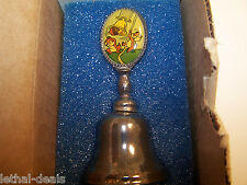 Disney Vintage Silverplated Bell Chip & Dale New England Collector's Society Ne