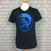 DIESEL MENS UK M NAVY BLUE ULYSSE MOHAWK CREW NECK T-SHIRT TSHIRT TEE SUMMER