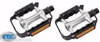 "Wellgo Alloy 9/16"" Black Mountain Bike Pedals Cycle Bicycle"