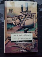 Libro Crónica de una Muerte Anunciada. Gabriel García Márquez.