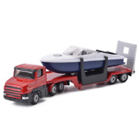 1/64 Siku 1613 Truck Low Loader w/ Boat Diecast Alloy Model Toy Car