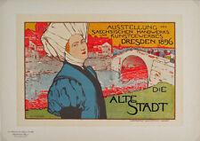 Les Maitres de l'Affiche pl.68 Alte Stadt by Otto Fischer Original Poster