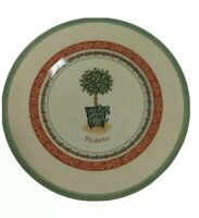 """Villeroy & Boch Festive Memories Topiary Mistletoe 8.5"""" Plate Country Collection"""