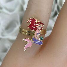 Disney 14k Solid Gold and Enamel ArielAdjustable Ring Good For Kids