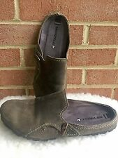 Merrell Haven Womens GOOSE Leather Mules Clogs Slip On Shoes US Size 10/41