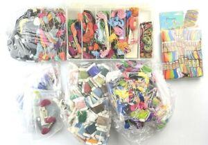 HUGE LOT Skeins DMC JP COATS Cards Cotton Embroidery Craft Thread Needlework