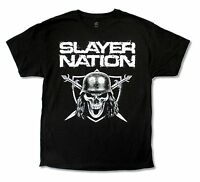 Slayer Nation Tour 2014 World Domination Black Mens T Shirt