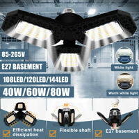 E27 85-265V LED Garage Light IP65 High Bay Lamp Bright Industry Lightin' 4800LM