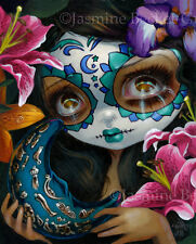 Jasmine Becket-Griffith art print day of the dead moon SIGNED Milagros:La Luna