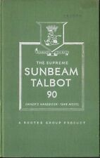 Sunbeam Talbot 90 Litre original Owners Handbook 1948 Ref. No. 223