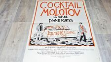 COCKTAIL MOLOTOV ! diane kurys affiche citroen ds automobile , voiture cars 1979