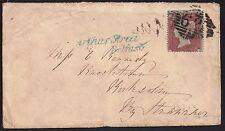 GB 1855 1d Victoria (1840-1901) sg 26 cover 62 (Belfast) Arthur Street Belfast*