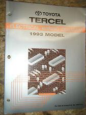 1993 TOYOTA TERCEL ELECTRICAL WIRING DIAGRAM FACTORY MANUAL REPAIR SERVICE