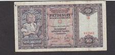 50 KORUN FINE BANKNOTE FROM SLOVAKIA 1940 PICK-9
