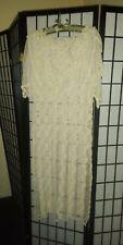 Lim's Women Vintage Unique Delicate Cotton Crochet Dress Size Medium
