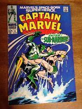 Captain Marvel #4 Vs Sub-Mariner F- 5.5 Classic Battle Silver Age Carol Danvers