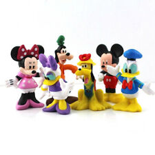 Mickey Mouse Set of 6 Figures Toy Cake Toppers Minnie Donald Duck Daisy Goofy