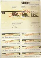 Gotthard Bank AG Lugano histor. Aktie 1987 Schweiz Banca d Gottardo BSI Tessin