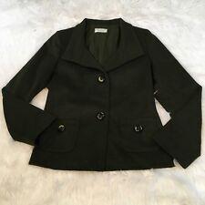 Jimmy Hourihan Women's Blazer Size 6 Green Wool Alpaca Blend Dublin Ireland