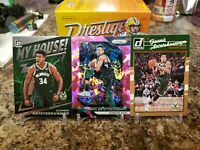 "🔥GIANNIS ANTETOKOUNMPO LOT PRIZM CRACKED ICE OPTIC ""MY HOUSE"" DONRUSS #5 BUCKS"