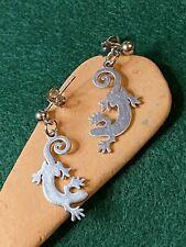 Stainless Steel Lizard, Gecko, Reptile Earrings, hypoallergenic Stud Earrings