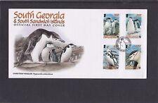 Georgia del Sud 2008 sottogola pinguino PRIMO GIORNO DI COPERTURA FDC RE EDOARDO PUNTO P H/S