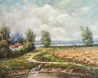 Original Oil Painting The Country #7 16 x 20 Inches
