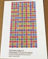 Mario Yrisarry Mini Poster For Third International Choral Festival 16X11 LC