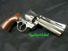 NEW WALKING DEAD CHROME ITALY METAL 357 MAGNUM MOVIE PROP Pistol Replica Gun