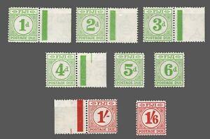 Fiji    Sc. #J12-J19 MNH//MH   Postage Due  Wmk.4    1940
