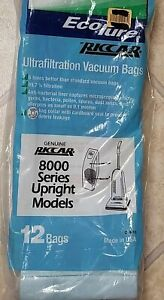 Riccar 8850, 8955, Upright Vacuum Ultrafiltration Vacuum Bags 12 in Pack C15-12